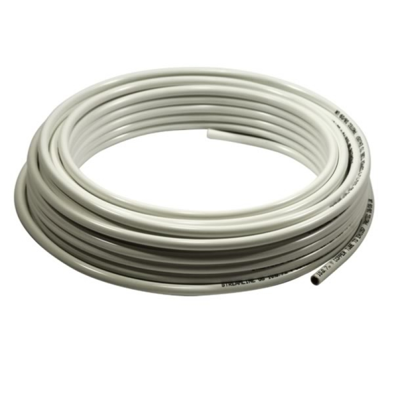 10mm x 50m pvc plastic white coated copper pipe coil for Copper pipe to plastic pipe