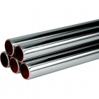 15mm x 3m Chrome Plated Copper Pipe