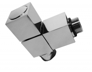 Abacus Direct Ultima Square Designer Towel Rail Valves 15mm Angled