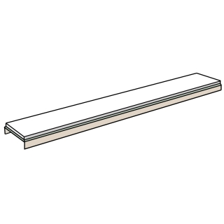 Abacus Linear Drain Glass Cover Plate - White