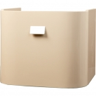 Abacus Vessini Opaz - Basin Unit - Curved - 490 x 400 x 410mm - Beige - VEFN-30-4010