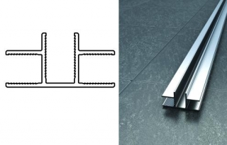 Abacus X Series T Shaped Joint Channel - 2000mm