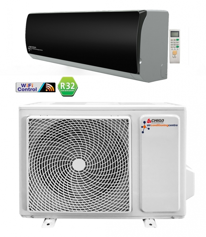Air Conditioning Centre 3 4kw Black Wifi Enabled Super