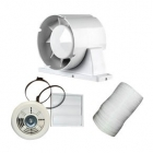 Image for Airflow Aura 100mm Extractor Fan Kit with LED Lamp and Timer