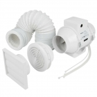 Image for Airflow Aventa 100mm Inline Extractor Fan Kit with Timer
