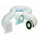 Image for Airvent 100mm Shower In-Line Standard Fan with Timer & Light Kit