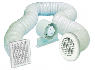 Airvent 150mm Shower In-Line Standard Fan with Timer