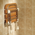 Image for AKW Fold Up Wooden Slatted Seat with Support Legs - 04030