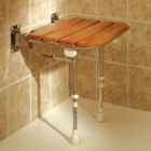 WOODEN SLATTED SHOWER SEATS