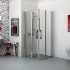 Image for AKW Larenco Bi-Fold Shower Doors - 900mm Wide