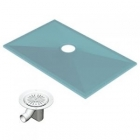 Image for AKW Tuff Form Wet Room Tray with TF75 Gravity Waste - 1300mm x 820mm - 21029