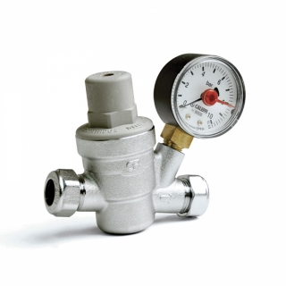 Altecnic 15mm Pressure Reducer Valve & Gauge