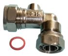 """Image for 15mm x 1/2"""" Chrome Plated Angled Service Valves Pack Of 5"""