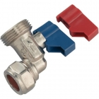 Image for 15mm x 3/4 Angled Washing Machine Tap
