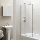 April Identiti2 Bath Screen Towel Rail Fixed