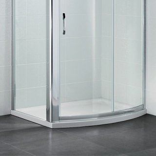 April Identiti2 Bow Front Slider Shower Tray