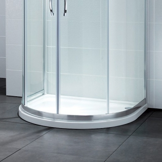 April Identiti2 U Shaped Quadrant Shower Tray