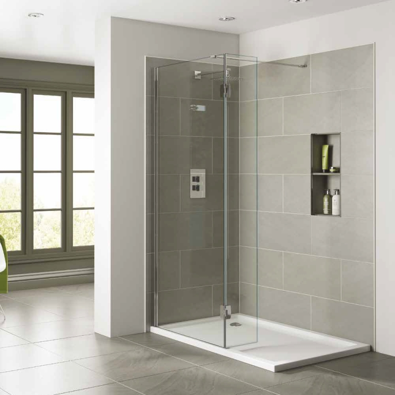April identiti2 wetroom panels wet rooms for Wet room shower screen 400mm