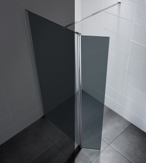 April Wetroom Return Panel Smoked