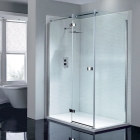 April Prestige2 Frameless Hinge Door 1000mm LH AP8910L