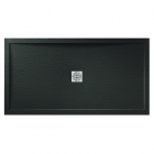Image for April Waifer Slate Effect Shower Tray Black 1200mm x 700mm 557/999