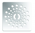 Image for April Waifer Slate Effect Shower Tray Stainless Steel Waste Chrome 530/700