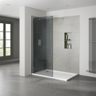 Image for Aquadart 10mm Wetroom Panel - Smoked - 900mm AQ8413-SM