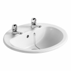 Image for Armitage Shanks Orbit 21 - Basin Countertop 550mm 2 Tap Hole - S248801