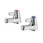 Image for Armitage Shanks Sandringham 21 - Basin Tap - Pillar (Pair) (Lever) - Chrome - B9881AA