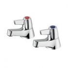 Image for Armitage Shanks Sandringham 21 - Bath Tap - Pillar (Pair) (Lever) - Chrome - B9882AA