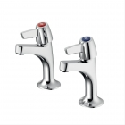 Image for Armitage Shanks Sandringham 21 Sink Pillar Taps Lever B9885AA