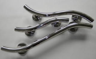Barwood Luxury Wave Polished Stainless Steel Grab Rails