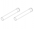 Baxi Multifit Group N Twin Pipe 1000mm Flue Extension (Pair) 5111087