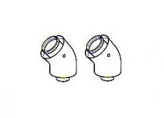Baxi Multifit Group N Twin Pipe 135° Flue Bends (Pair) 5111086