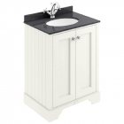 Image for Bayswater 600mm 2-Door Basin Cabinet Pointing White - BAYF103