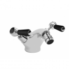 Image for Bayswater Dome Collar Lever Monobloc Bidet Mixer Black/Chrome - BAYT348