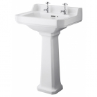 Image for Bayswater Fitzroy 595mm 2 Tap Hole Basin - BAYC001