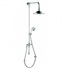 """Image for Bayswater Grand Rigid Riser Kit 6"""" Self Cleaning Head Handset And Diverter White/Chrome - BAYS208"""