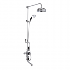 """Image for Bayswater Grand Rigid Riser Kit 8"""" Fixed Apron Head Handset With Diverter Black/Chrome - BAYS202"""