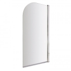 Image for Bayswater Radius Bath Screen 6mm Toughened Safety Glass Chrome - BAYE201