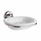 Bayswater Soap Dish White Chrome - BAYA006