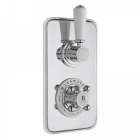 Image for Bayswater Twin Concealed Shower Valve With Diverter White/Chrome - BAYS104