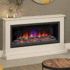 """Image for Be Modern 52"""" Hansford Grande 2606 Timber Electric Stove Suite Pearl Cash Anthracite - 24813"""
