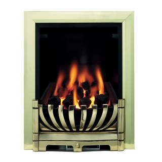Be Modern Avantgarde Inset Gas Fire - Brass Deepline