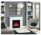 Image for Be Modern Avella 2kW Inset Wall Mounted Electric Fire Brushed Steel - 183083