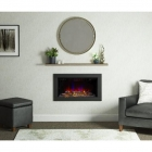 Image for Be Modern Avella 2kW Inset Wall Mounted Electric Fire Matt Black - 22306