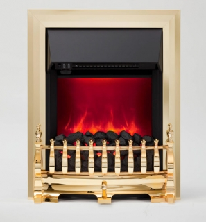 Be Modern Camberley LED Inset Electric Fire - Brass (Deep Trim)