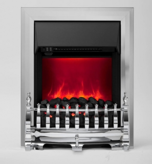 Be Modern Camberley LED Inset Electric Fire - Chrome