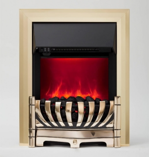Be Modern Lexus LED Inset Electric Fire - Brass