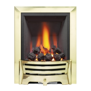 Be Modern Mayfair Inset Gas Fire - Brass/Coal Deepline